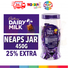 CADBURY DAIRY MILK NEAPS JAR 450G (25% EXTRA) 100% HALAL JAKIM - ORIGINAL