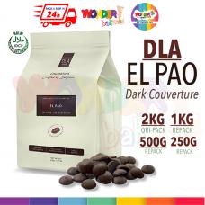 DLA NATURALS - EL PAO 58% - Dark Chocolate Couverture HALAL | 2KG, 1KG, 500G, 250G | Wonder Bakes