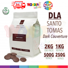 DLA NATURALS - SANTO TOMAS 70% - Dark Chocolate Couverture HALAL | 2KG, 1KG, 500G, 250G | Wonder Bakes