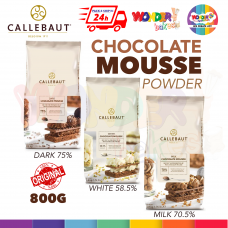 CALLEBAUT CHOCOLATE MOUSSE POWDER 800G | SERBUK MOUSSE COKLAT | INSTANT MOUSSE POWDER