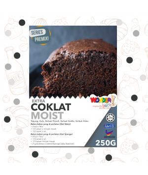 CHOCOLATE MOIST EXTRA PREMIX CAKE | TEPUNG KEK COKLAT LEMBAB EXTRA| WONDER BAKES | 250 G