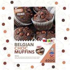 FULL SET BELGIAN CHOCOLATE MUFFIN PREMIX | SET LENGKAP TEPUNG MUFFIN COKLAT BELGIUM